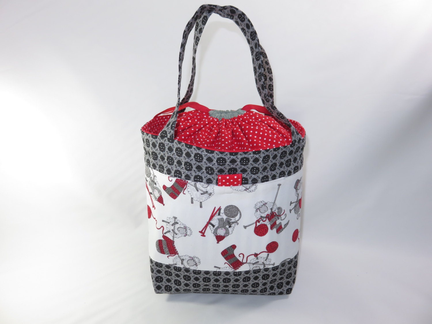 large knitting project bag madelyn tote sheep partners