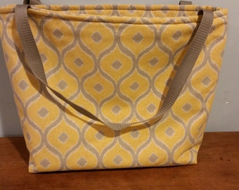 Gold & Silver Ikat Tote Bag