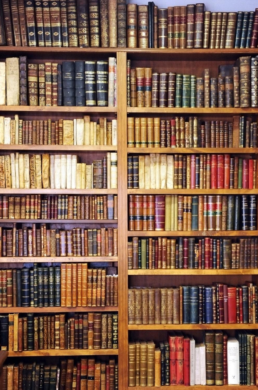 Bookshelf With Books ~ Dark bookshelf backdrop old vintage bookcase book cabinet