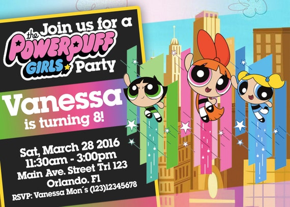 Powerpuff Girls Birthday Invitation We Deliver Your Order In