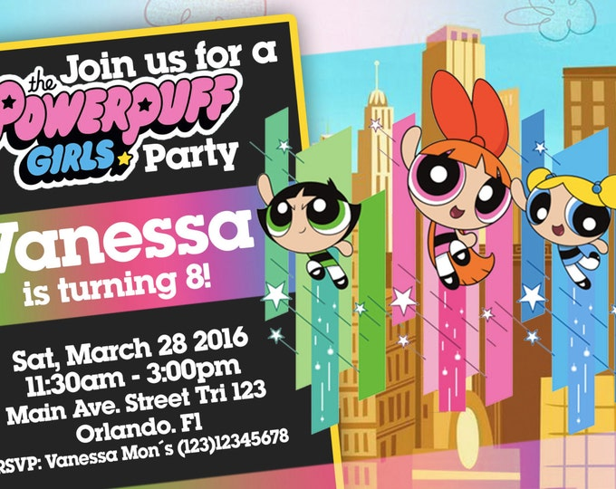 Powerpuff Girls Birthday Invitation - We deliver your order in record time!, less than 4 hour! Best Value