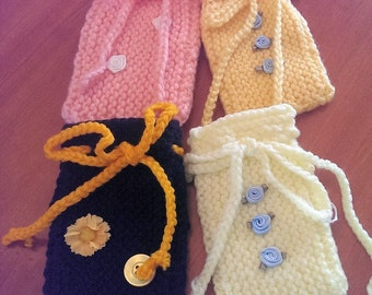 Small Knitted Bags - Great for Gifts