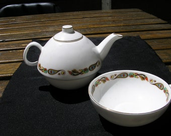 HANDPAINTED TEAPOT & BOWL
