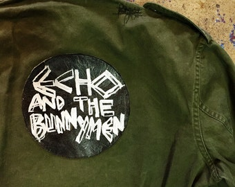 "Custom ""Echo and the Bunnymen"" vintage military shirt"