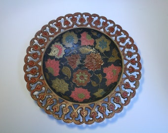 Plate decorative Indian vintage brass