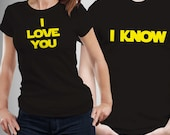 Couples Star Wars I Love you His and Hers T-shirts
