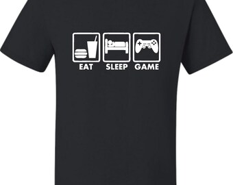 Adult Eat Sleep Game Funny Gamers Gaming T-Shirt