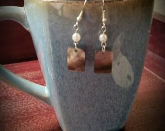 Pearl brown errings