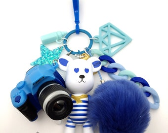 Popobe Blue Sailor Bag Charm