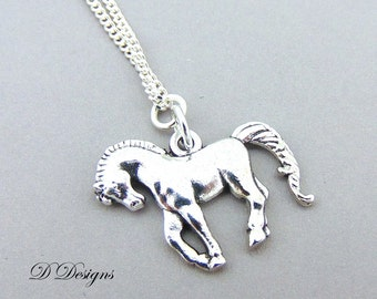 Horse Necklace, Horse Charm Necklace, Silver charm Necklace, Horse  Pendant,  Silver Necklace, Gifts for her,