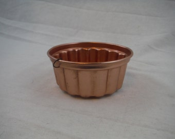 Copper Tin Round Tart Jello Mold - Vintage, Retro, Decorum, Usable