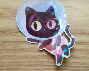 Cookie Cat Holographic sticker!