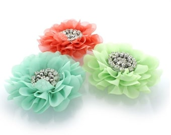 Dog Collar Flower with Rhinestones