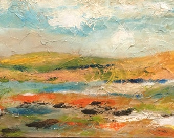 Abstract Landscape, Bright, boho, earthy, texture