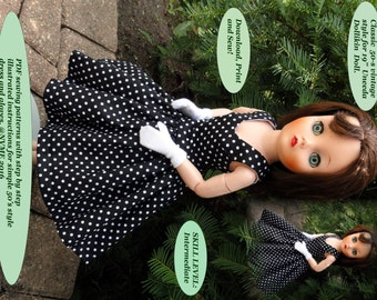 Doll Clothes PDF Pattern for Vintage 19'' Uneeda Dollikin Doll by NVME 19UD-1