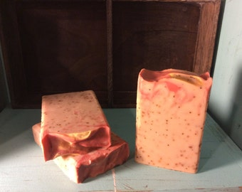 Frosted Cranberry-Handcrafted Artisan Cold Process Soap