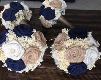 Bridesmaids Bouquets, Burlap Bridesmaids Bouquets, Rustic Bouquets, Alternative Wedding Bouquets, Burlap Bouquets, Bouquets, Burlap Weddings