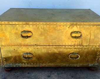 Brass Two Drawer Chest by Saaried Ltd.