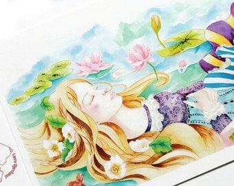 """Reproduction of the """"Ophelia"""" illustration on Watercolour paper"""