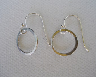 Earrings, Sterling Silver, Small Hoops