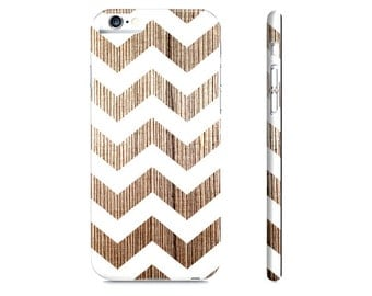 Wood iPhone 6 Case - Chevron iPhone Case - Modern Chevron iPhone 5 Case - Rustic Wood iPhone Case - Wood Phone Case - The Mad Case