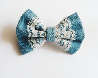 SALE Mini Blue Bow