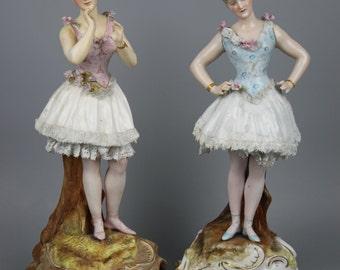 Antique 19C Schierholz couple of figurines