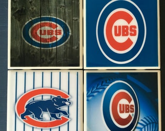 Chicago Cubs coaster set