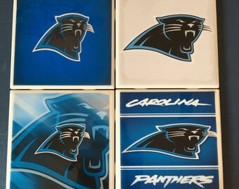 Carolina Panthers coaster set
