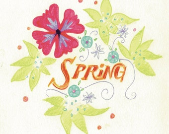 Spring - Downloadable illustration
