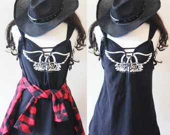 Aerosmith or your favorite band Customized Deep V Dress or tunic S-L