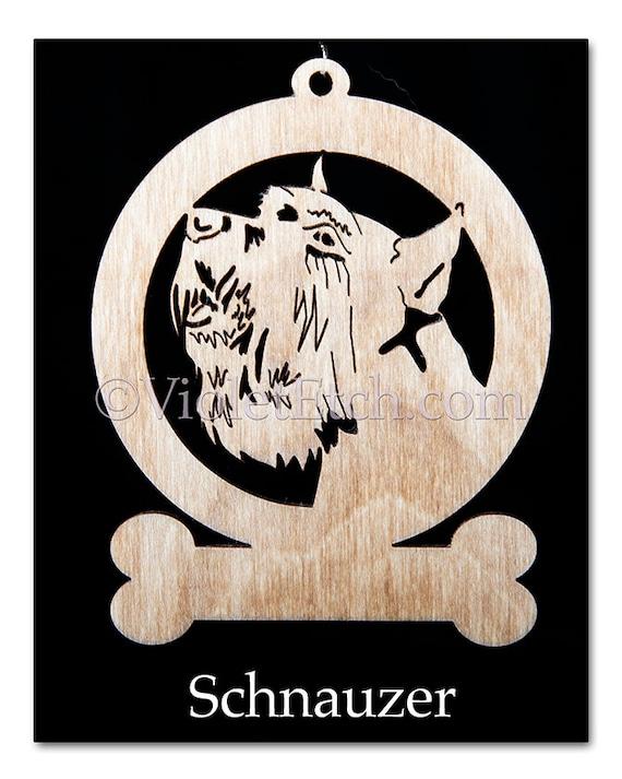 Schnauzer-Schnauzer Ornament-Schnauzer Gift-Free Personalization