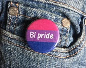 Bi Pride button or magnet 1.25 inch - LGBT button
