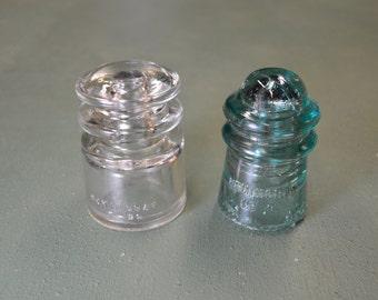 Hemingray Insulator, Light Pole Glass, Wire Insulator, Telephone Insulator,  #346