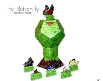The Butterfly Paper Toy Educational Life Cycle Playset