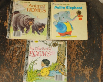 Set of 3 Small Size Little Golden Books