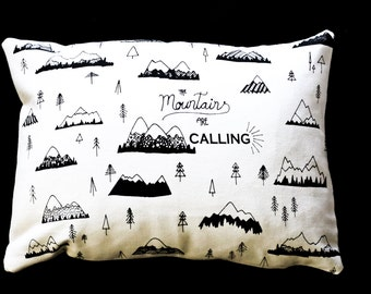 Mountains Are Calling Travel Pillow or Decorative Pillow
