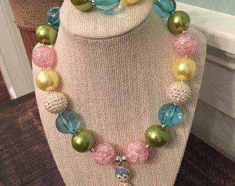 Inside Out chunky necklace (Joy) with bracelet