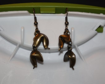Double Fortune Cookie Earrings