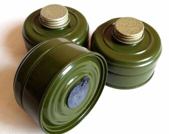 3pcs lot Soviet russian gas mask filter. Gp-7, Gp-5, gp-4, PDF, PMK, PMG