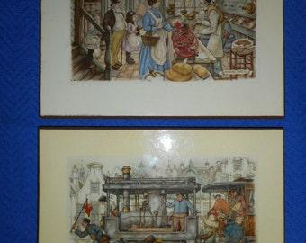Anton Pieck Prints: Laminated on Wood  Copyright 1966