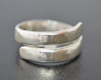 Sterling Silver Ring, Wrap Around Band