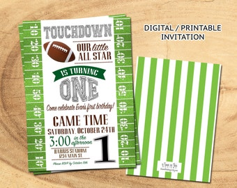 Football Birthday Invitation | FOOTBALL BIRTHDAY PARTY