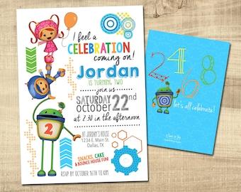 TEAM UMIZOOMI BIRTHDAY Invitations | Umizoomi Invites | Umizoomi Birthday Party