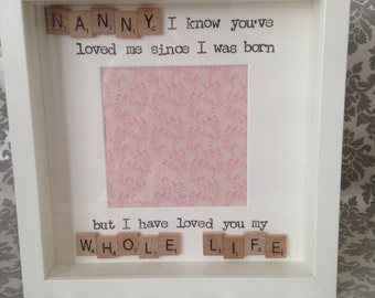 Nanny Scrabble Photo Frame