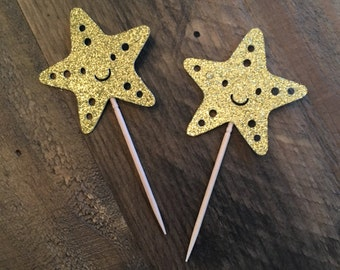 starfish cupcake topper