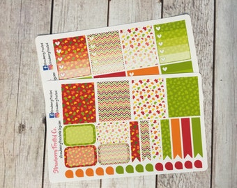 Falling Leaves Themed Planner Stickers - Made to fit Vertical Layout