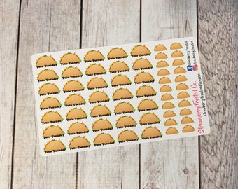 Taco Tuesday- Tacos Planner Stickers- Made to fit Vertical Layout