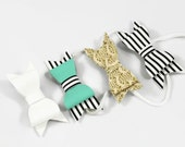 Faux leather big bows, faux leather baby bows, faux leather bow headbands,nylon headbands