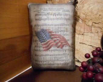 Pillow Tuck: Primitive Rustic Flag Americana Pillow Tuck.